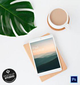 iPad White Mockup PSD Gratis