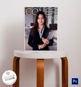 Cover Magazine Mockup Gratuito Revista Portada