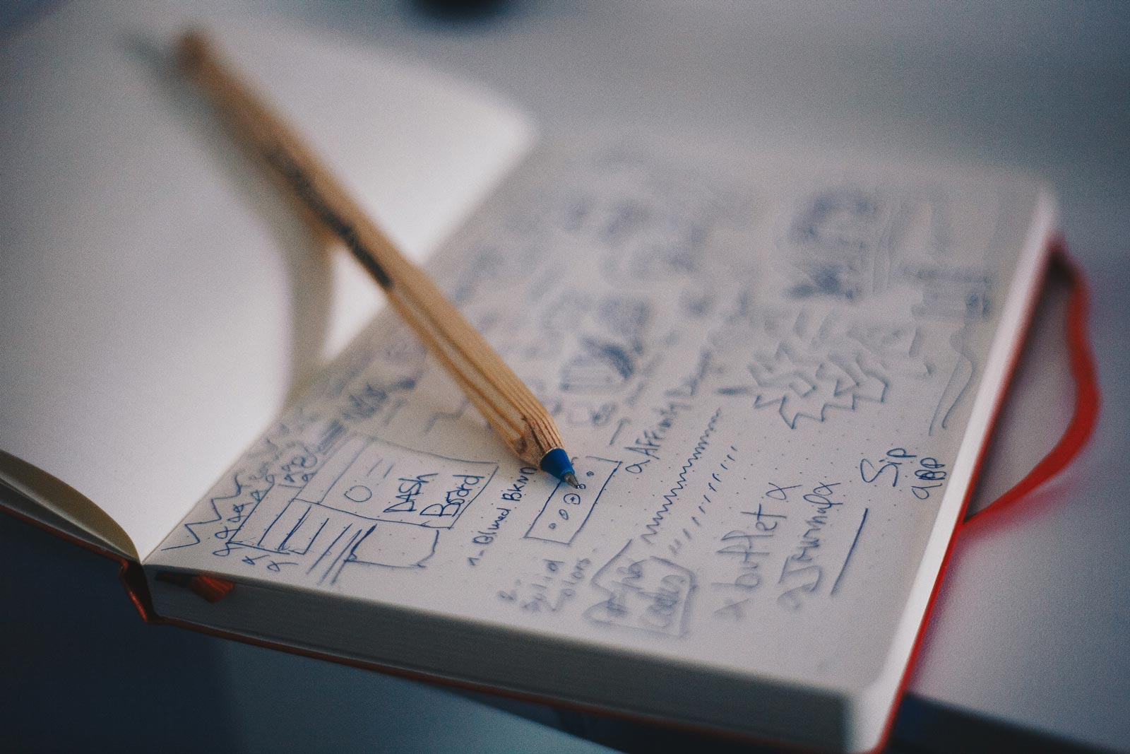 Cajón de notas de un taller gráfico